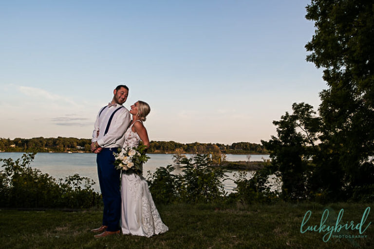 bride and groom at toledo country club