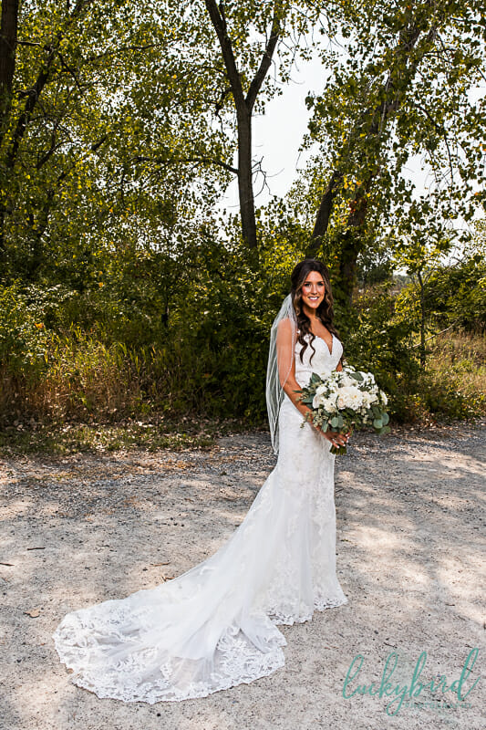 bride at middlegrounds park