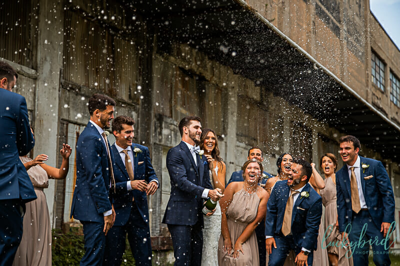 champagne pop downtown toledo wedding