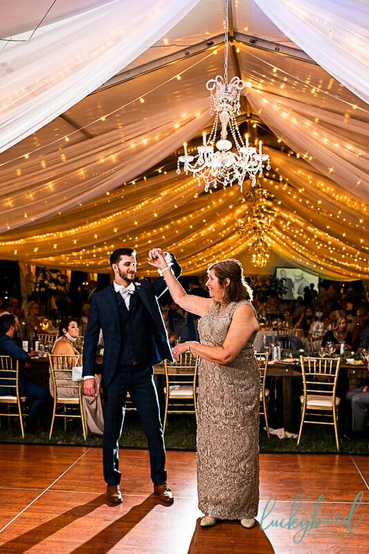 dancing during perrysburg tent wedding