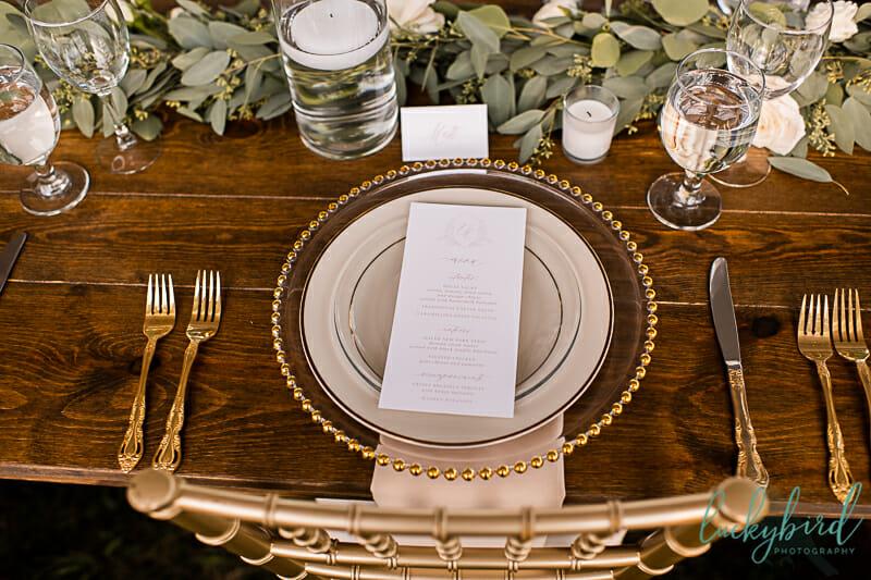 elegant wedding details from perrysburg wedding
