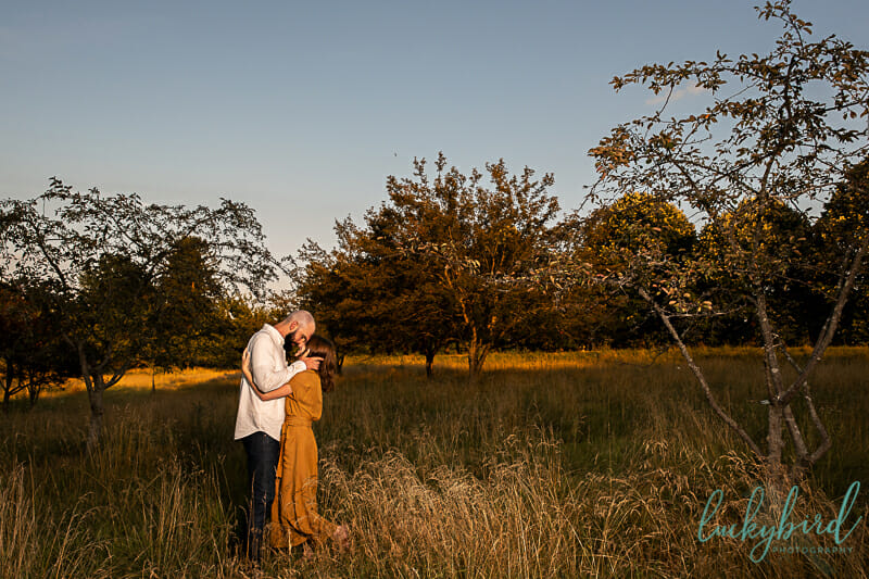 field fall engagement photos in toledo