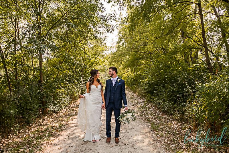 middlegrounds park wedding photo