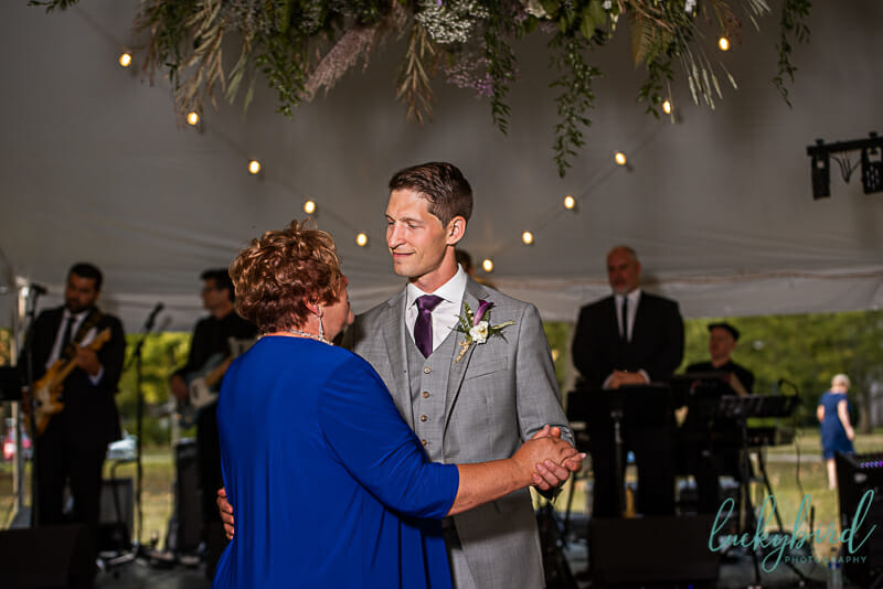 mother son dance at toledo botanical garden