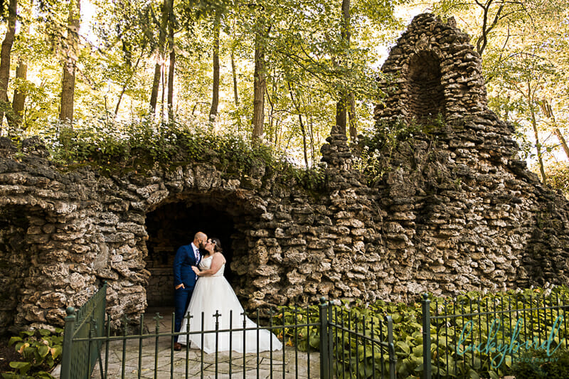 nazareth hall wedding photos in grotto