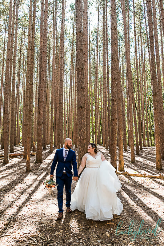 oak openings wedding photos tall trees