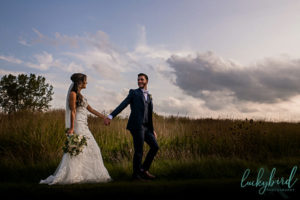 perrysburg wedding photos in field