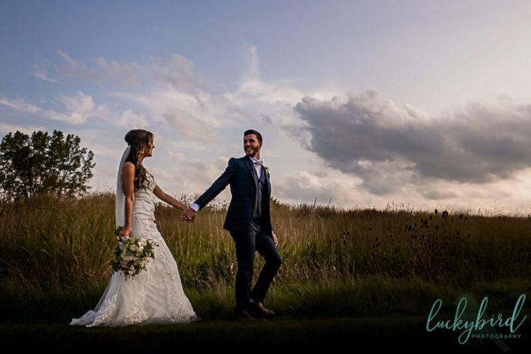 perrysburg wedding photos in field