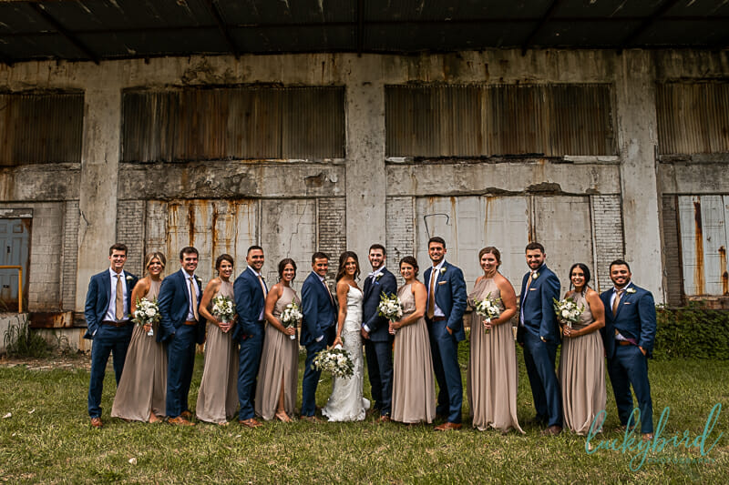 photo of wedding party at middlegrounds park
