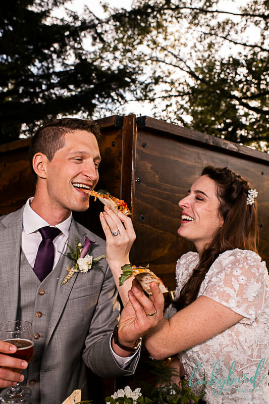 pizza wedding photo cheers