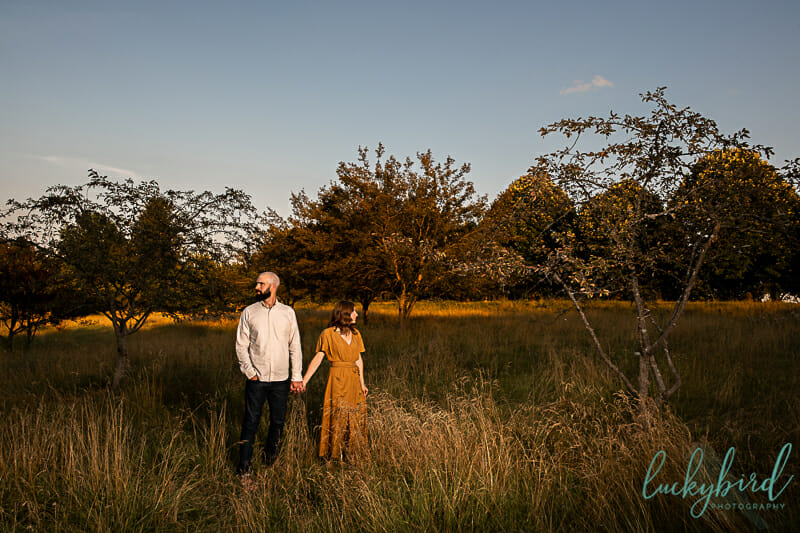 sunset toledo engagement photos in the fall
