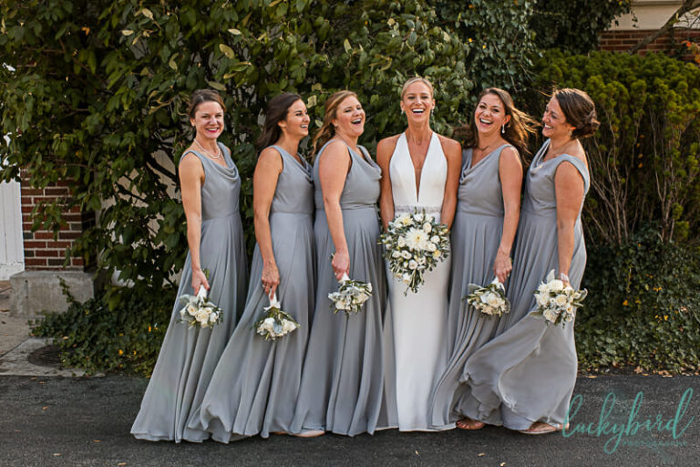 bridesmaids at inverness toledo wedding