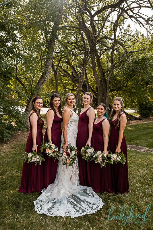 bridesmaids at nazareth hall