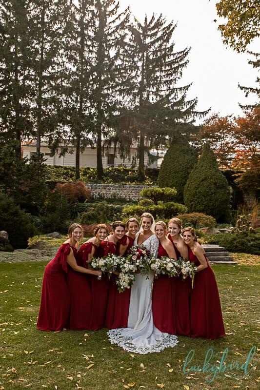 bridesmaids at schedel gardens
