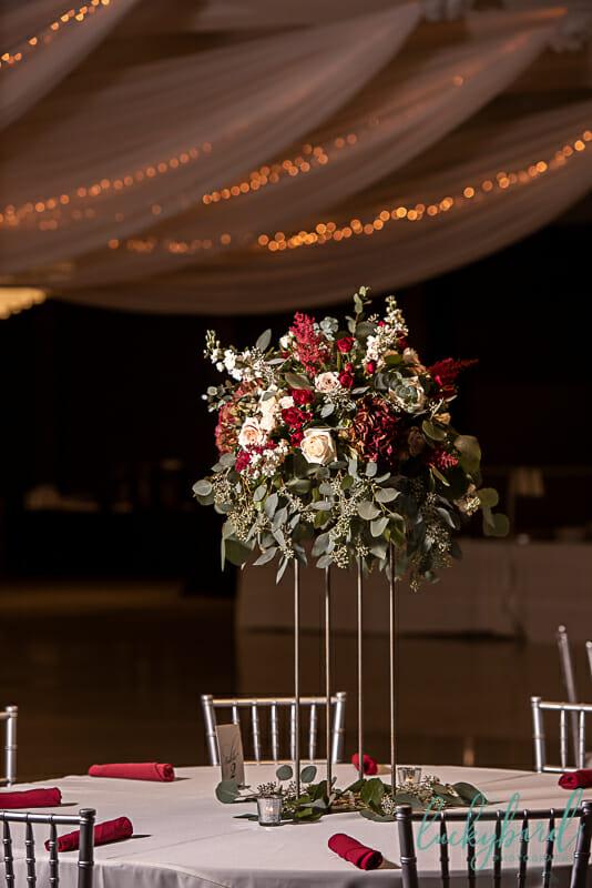 centerpieces at stranahan wedding