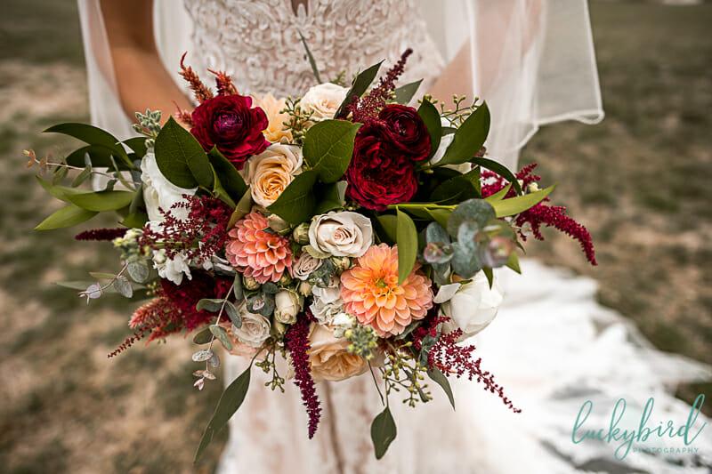 fall wedding bouquet at nazareth hall