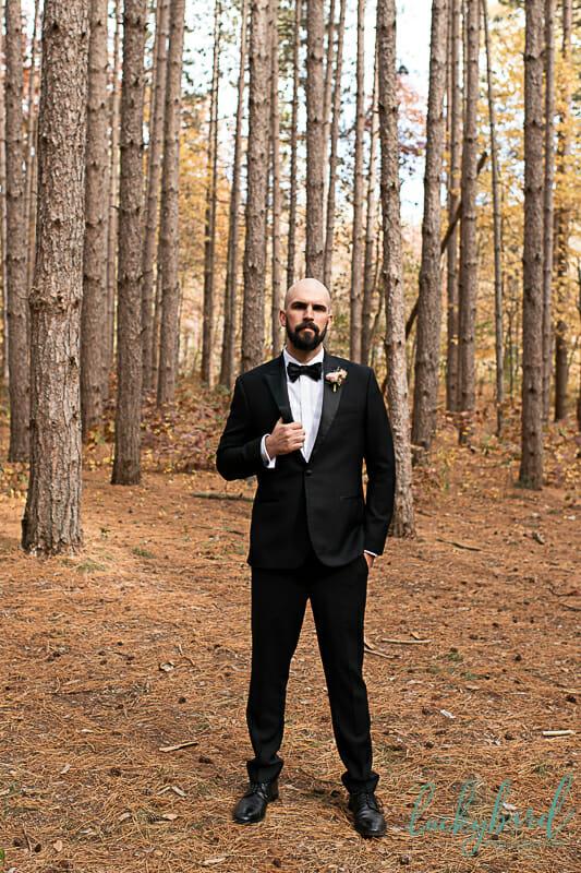 groom at oak openings wedding