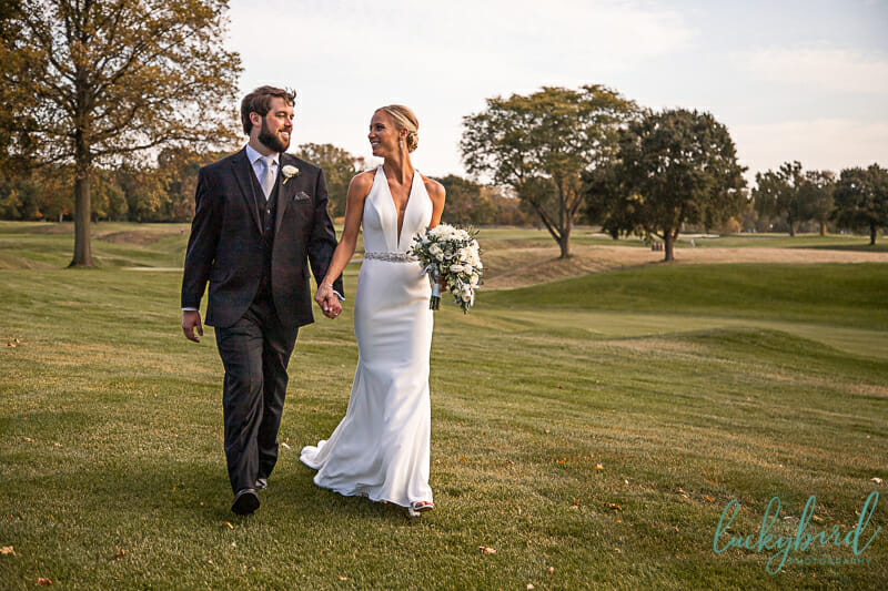 inverness country club wedding photos in the fall