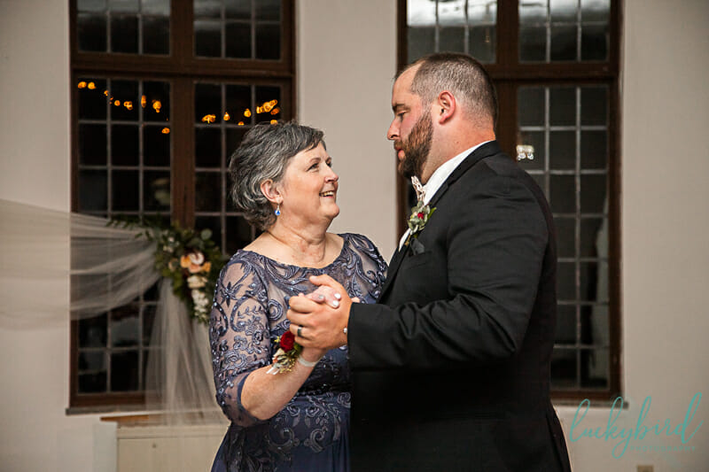 mother son first dance photo