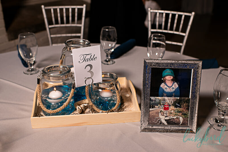 nautical wedding decor at toledo zoo aquarium