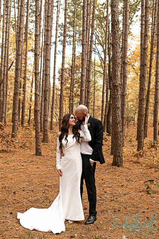 romantic oak openings wedding photos