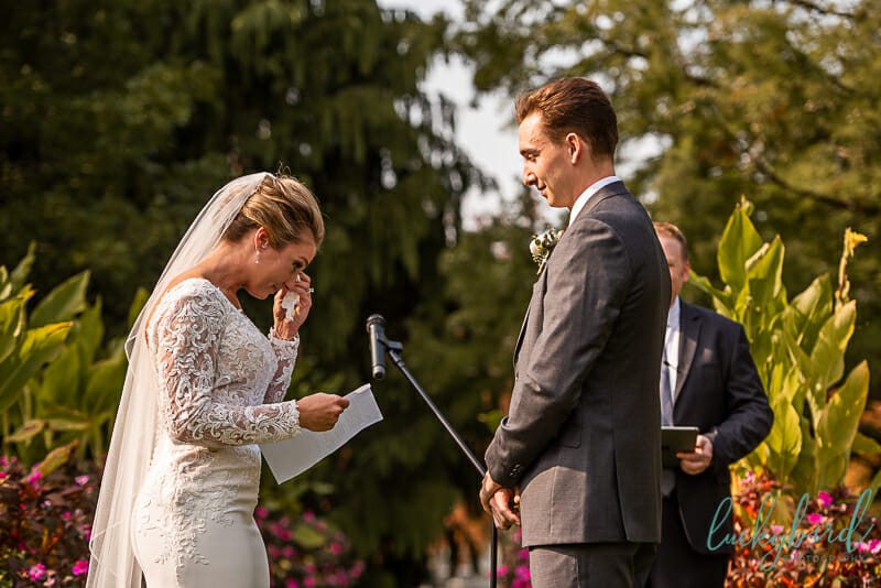 schedel garden ceremony in the fall