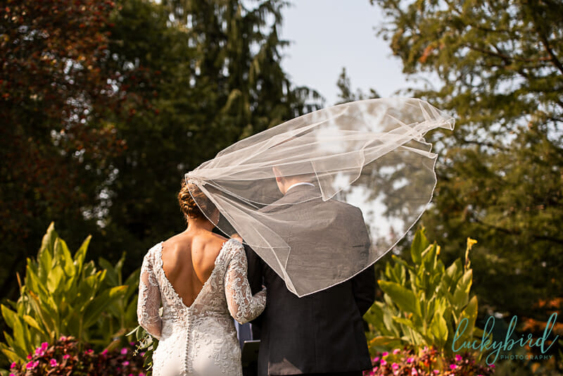 schedel garden wedding ceremony