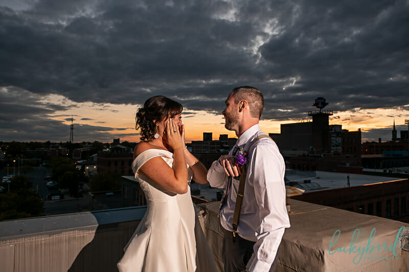 summit toledo rooftop wedding photos