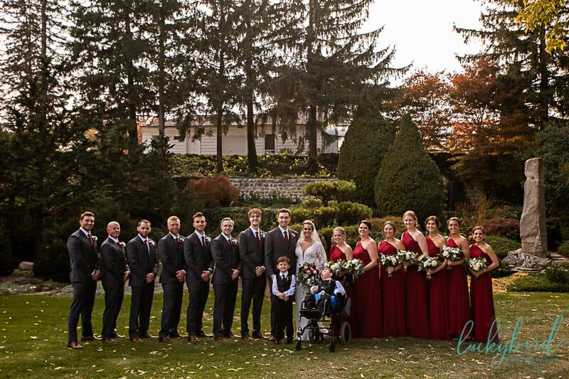 wedding party at schedel gardens