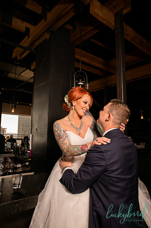 bar wedding photo at the heights toledo