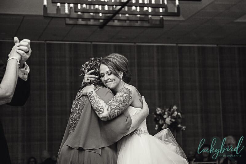 mother daughter dance at renaissance toledo wedding