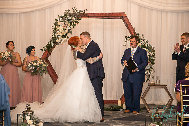 renaissance toledo wedding ceremony arch