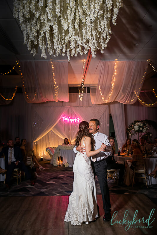 father daughter dance at renaissance toledo wedding