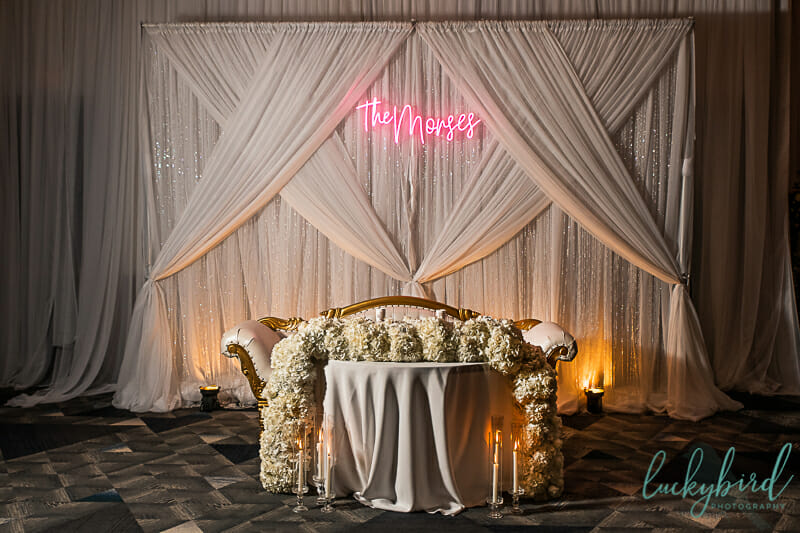 mager designs wedding reception photo