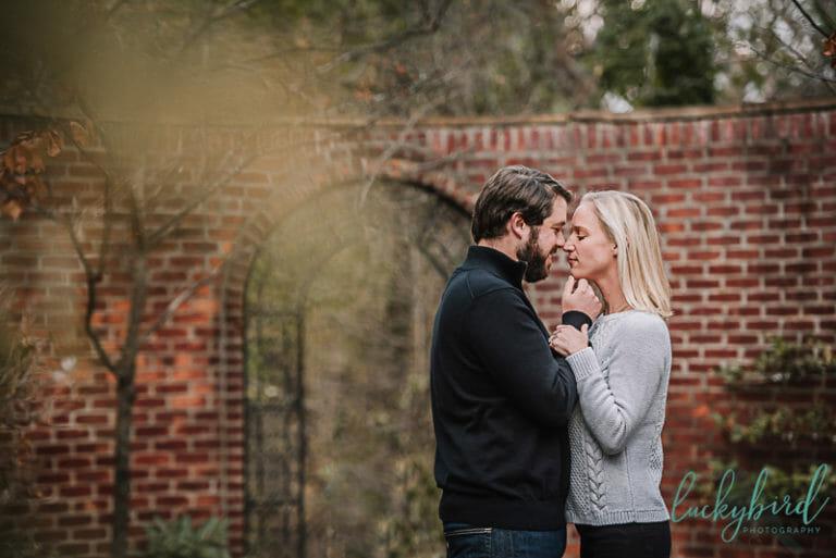 romantic toledo wildwood park engagement photo
