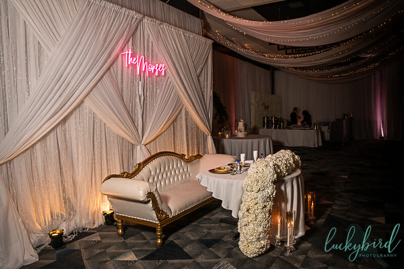wedding couch for reception