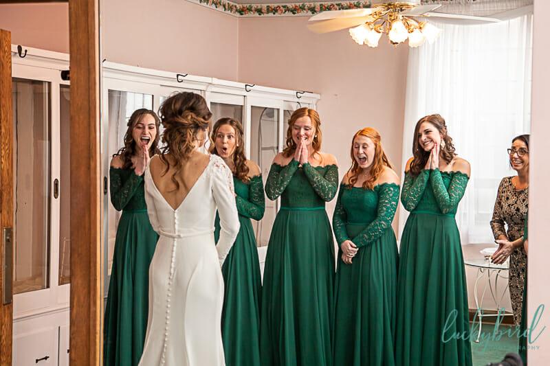 bridesmaids reveal at nazareth hall