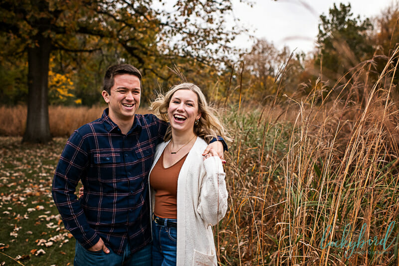 candid pearson park engagement session