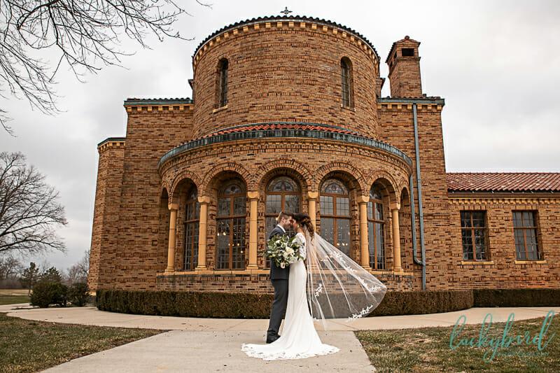 nazareth hall wedding photo with veil