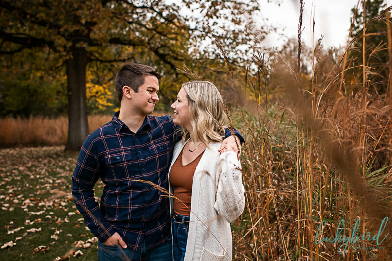 pearson park engagement photos in the fall