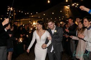 sparkler exit photo at shady brook acres wedding