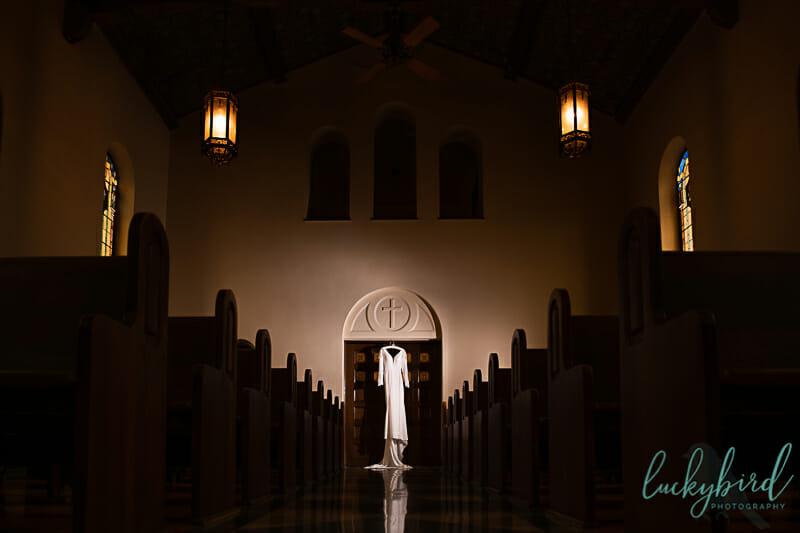 wedding dress photo at nazareth hall