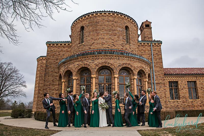 wedding party at nazareth hall cadet west windows