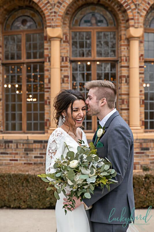 wedding photo at nazareth hall cadet west windows
