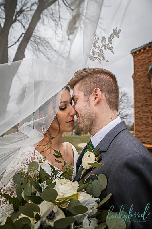 wedding veil photo at nazareth hall
