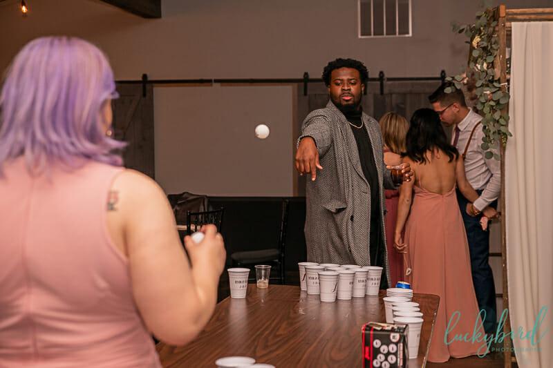 er pong at the barn at walnut creek weddinger pong at the barn at walnut creek wedding
