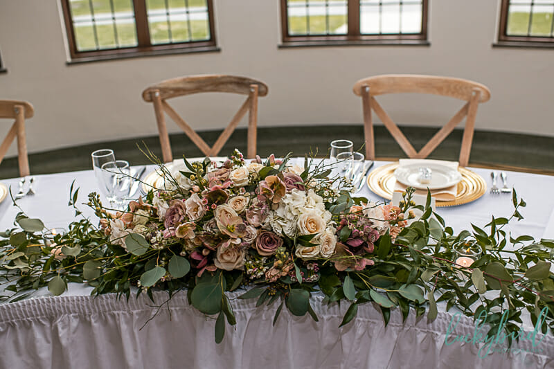 gardenview flowers wedding reception