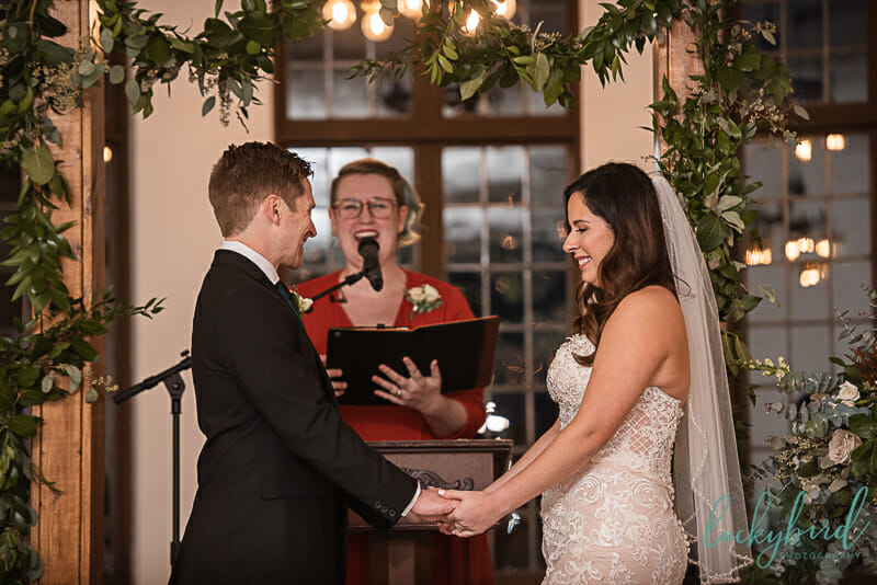 nazareth hall indoor wedding ceremony
