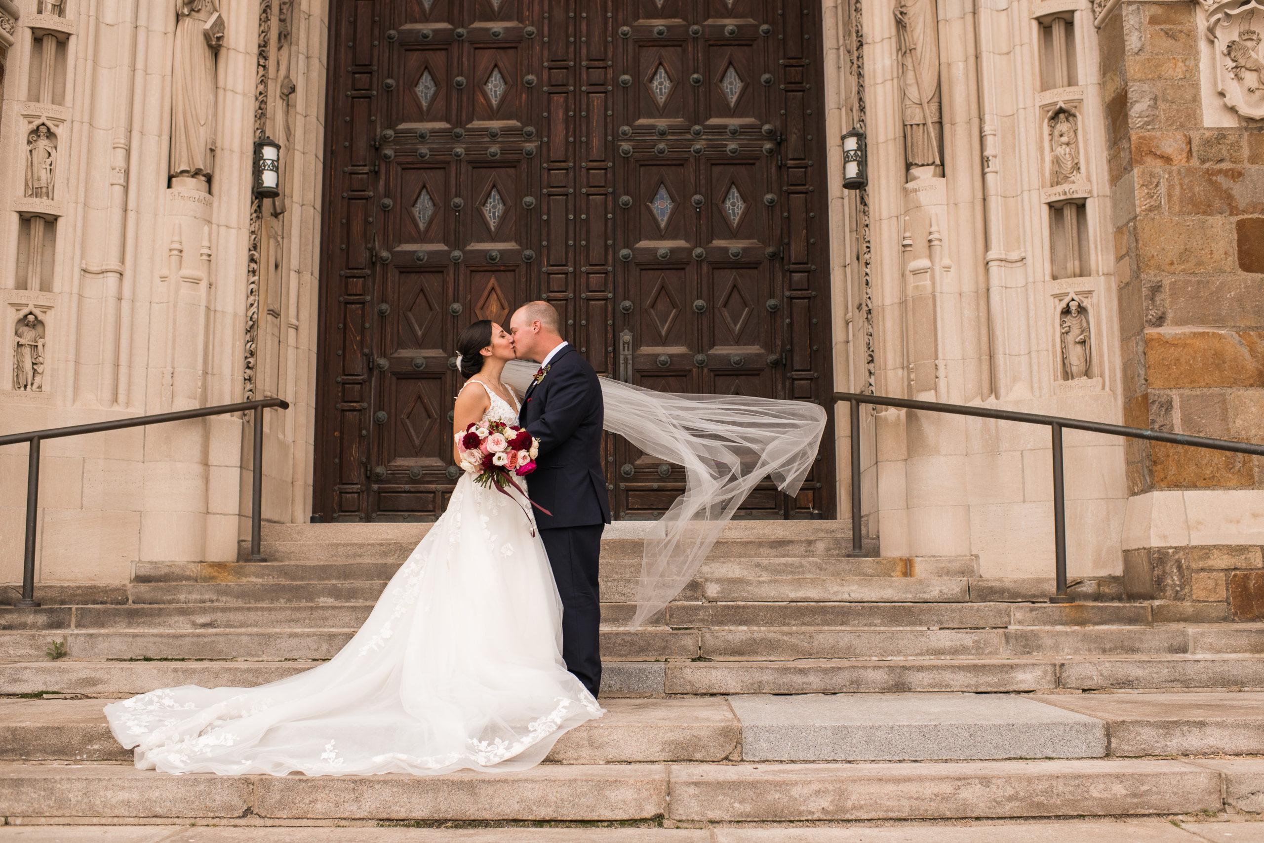 holy rosary cathedral wedding photo in toledo ohio