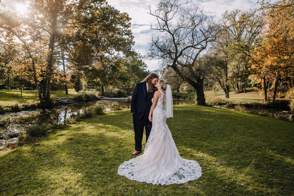 side cut wedding photo